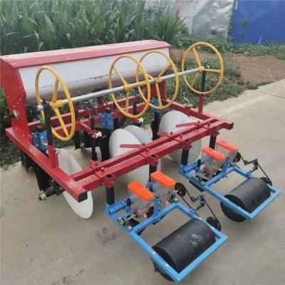 大型滴管带蔬菜播种机-两垄四行娃娃菜精播机-自走式汽油手推小颗粒播种机特点