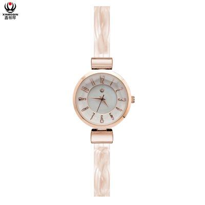 鑫柏琴设计工厂定做更省钱眼镜胶时尚优雅石英女手表促销礼品