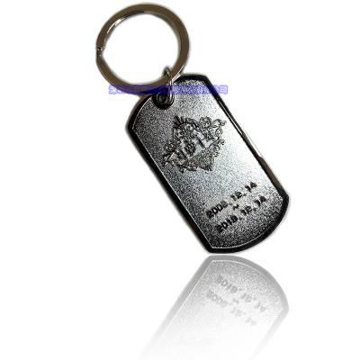 金属镀金银纪念牌钥匙扣挂件狗牌方形钥匙链手脚链挂件定制做厂家