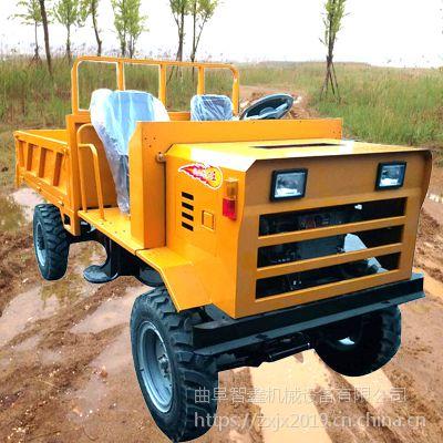 质量领先操作简单大马力工程液压运输车超载加重加长型的电启动四不像工程车运输车智鑫机械