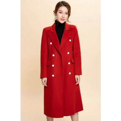 开服装店厂家货源伊贵人小香风羊毛毛呢羊绒大衣