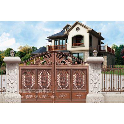 别墅庭院围墙大门 河北北市庭院铸铝大门 铸铝栏杆 一博金属