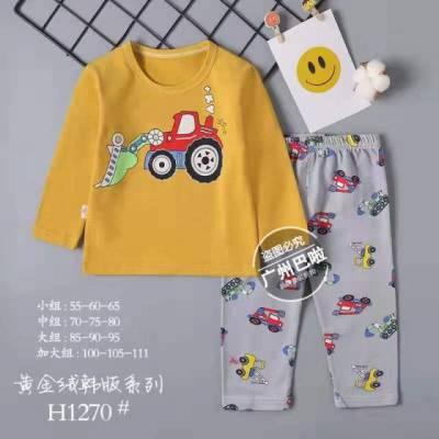 厂家直销东方花朵童装家居服套装