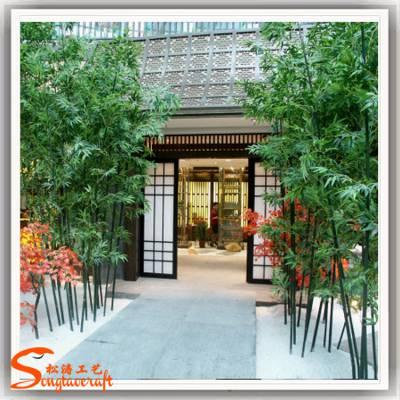 室内外仿真竹子批发公司 园林景观餐厅屏风隔断植物盆景