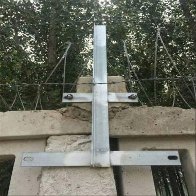 刺丝滚笼支架 铁路刺丝滚笼加密支架 铁路金属防护栅栏