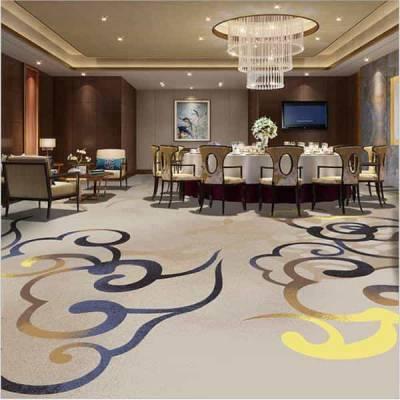 苏州市太仓市办公宾馆酒店地毯批发 现代新中式地毯现货