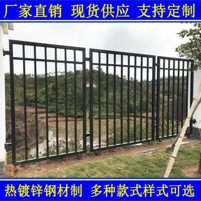 新型组装铁艺围墙护栏 东莞市政工程锌钢围栏 肇庆变电站安全防爬栏杆