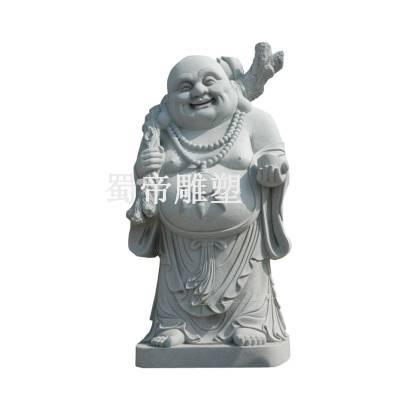 石雕白麻花岗岩汉白玉白色大理石弥勒佛佛像雕塑雕刻厂家直销定制加工