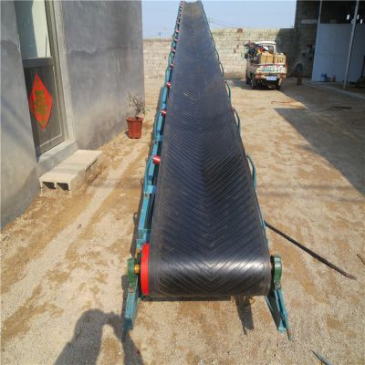 耐磨损输送带 装车卸车用皮带输送机 饲料厂用皮带机