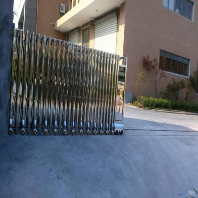 伸缩门电动分类 福建东至电动伸缩门 铝合金伸缩门 不锈钢电动伸缩门订购