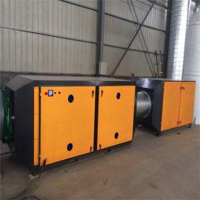 注塑机废气处理实恒等离子光氧一体机+活性炭箱组合除味设备