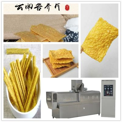 网红苦荞片手工荞麦锅巴片需油炸半成品 全自动生产线苦荞条膨化机