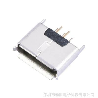 供应AB型MICRO USB连接器母座立式180°插板V8迈克USB 5pin母头