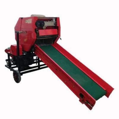 养殖场专用饲草裹膜机 移动式秸秆捆扎机 牧区窑藏专用包膜机
