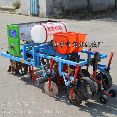 拖拉机悬挂式花生玉米大豆播种机 多功能起垄覆膜播种施肥喷药机