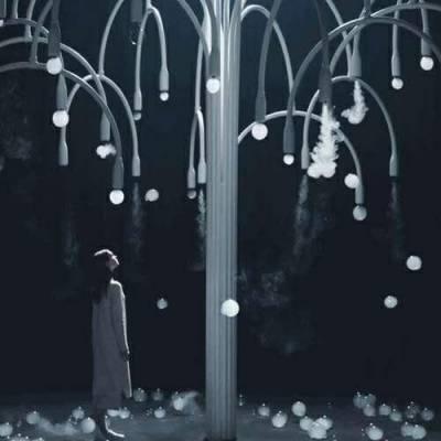 烟泡树抖音同款网红树 大型互动梦幻泡泡树尺寸定制