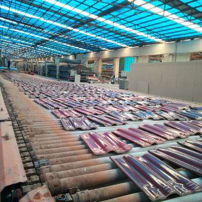 工程专用陶瓷瓦三曲瓦波形瓦全瓷瓦招金全瓷彩瓦山东琉璃瓦厂家