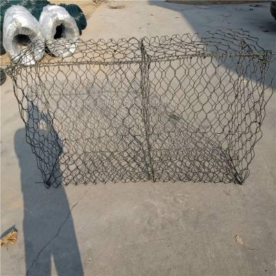 普镀锌六角网 堤坝石笼网网箱 格宾网卷施工方便