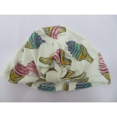 外贸原单宝宝秋冬帽子,婴儿印花纯色2件装帽子