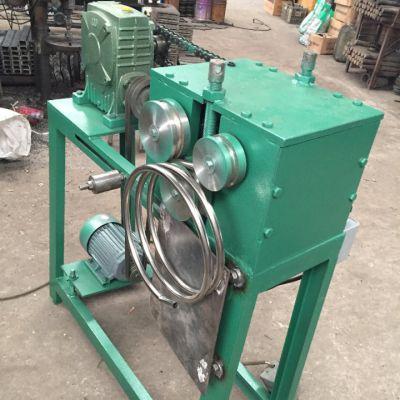 38型电动滚圆机 360度螺纹状管子盘圆机弯管机