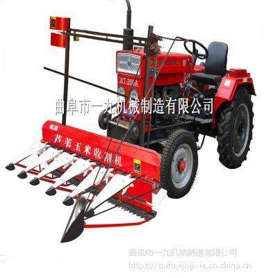 新型拖拉機前置高桿收割機 一九牌1.2米割曬機 曲阜市一九機械廠