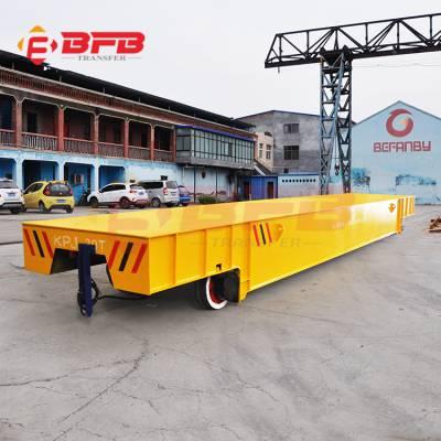广东63吨物料运输轨道车 卷缆滚筒轨道平车 轨道电动车运行案例