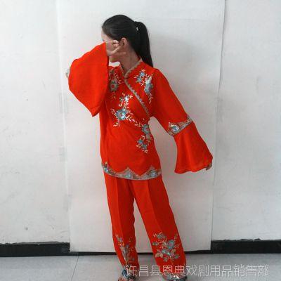 秧歌服演出服2018新款古典扇子舞民族风舞蹈服装广场舞套装女成人