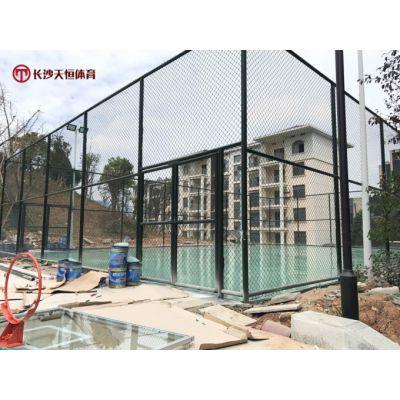 衡阳室外拼装式体育围网-常宁社区焊接式篮球场围网定制规格