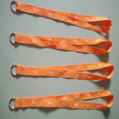 奖牌带织带订制东莞厂家供应各类颜色及款式带金属圈圈的涤纶印刷带