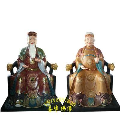 土地山神树脂佛像厂家定制 土地奶奶彩绘神像 骑虎山神佛像塑像