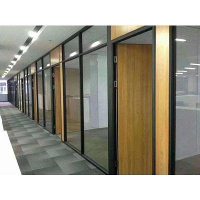 武汉板式隔断铝合金框架隔断钢化磨砂玻璃高隔间