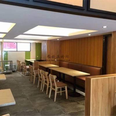 云浮甜品店靠墙卡座沙发桌子椅子家具定制案例展示