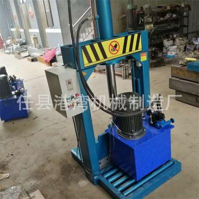 液压切膜机-港湾机械-废旧po膜液压切膜机