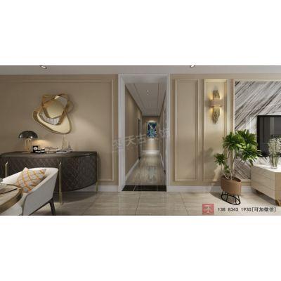 融创国博城装修案例,悦来天古装饰洋房户型设计,美式轻奢风格效果图欣赏