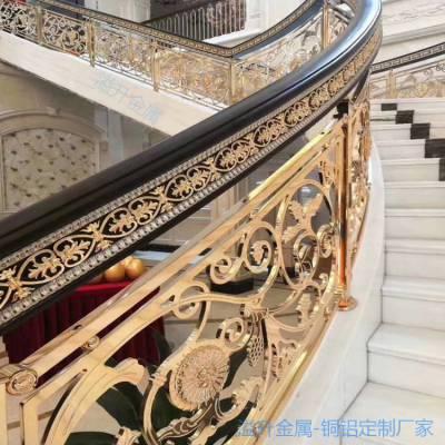 双边铜楼梯护栏光面优质铜楼梯栏杆批发/采购