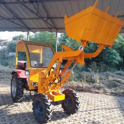 全新06型齐鲁小金刚型轮式装载机 后桥驱动液压臂抓草机