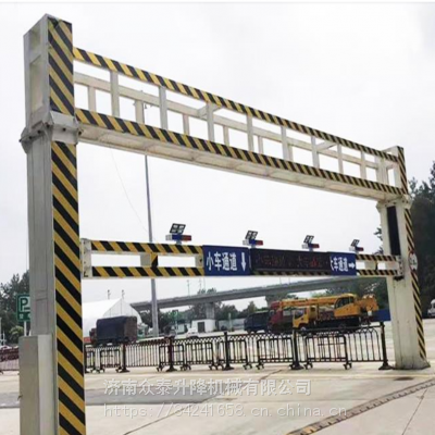 新乡延津县 电动升降限高架厂家 村庄限高杆 3米固定式限高杆专业品质