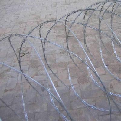 焊接刺丝滚笼批发 厂区刺丝滚笼厂 高铁刺丝滚笼围网