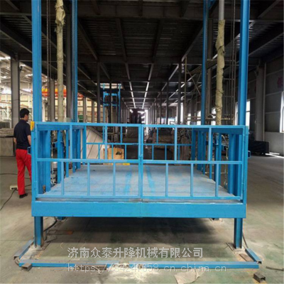 黄石航天 导轨式升降机厂家 3m固定式升降机 仓库链条式货梯 全国包邮