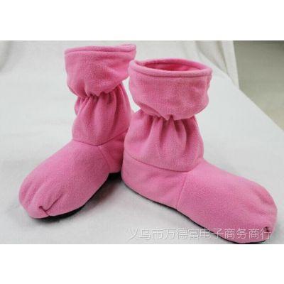 厂家直销hot booties微波炉加热鞋 家用摇粒绒保暖靴子