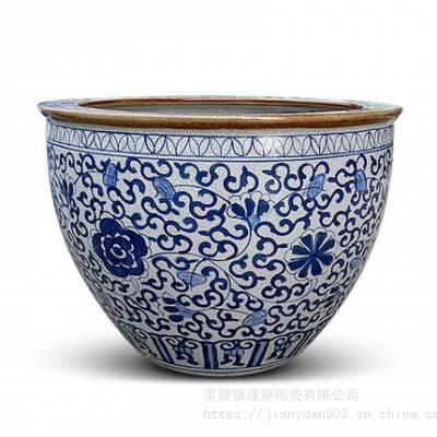 原生态陶瓷泡澡缸 桑拿温泉洗浴大缸 景德镇做缸的厂家