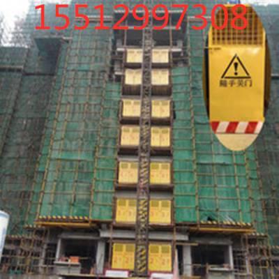 国泰建设施工用防护门 北京城建集团实例安装电梯门