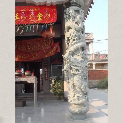 福建石雕盘龙柱厂家 石料花岗岩石雕龙柱价格低 质量保障