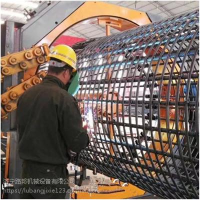 路邦机械专业生产全自动钢筋笼滚焊机 钢筋绕丝机 数控滚笼机