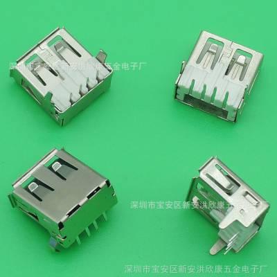 热销供应USB连接器A母90度插板 厂家直销