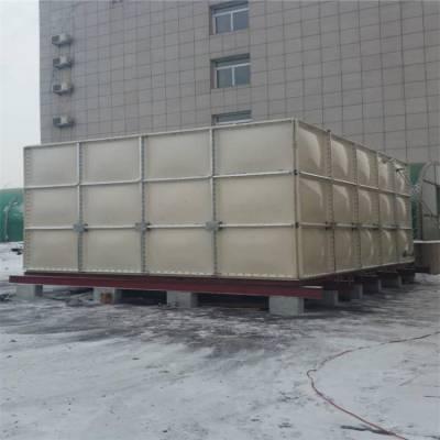 合肥防腐蚀玻璃钢水箱SMC模压玻璃钢水箱定做 新闻9吨方形玻璃钢保温水箱拼装玻璃钢水箱