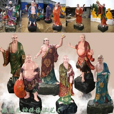 山西十八罗汉佛像 十二药叉大将佛像 十二生肖神像厂家价格