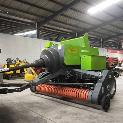 玉米青秸秆捡拾机 电厂供应秸秆粉碎机 双粉碎方捆打捆机