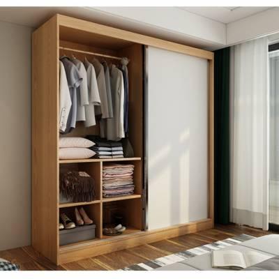 北欧衣柜 简约现代经济型组装两门衣柜小 户型简易板式衣橱 卧室家具