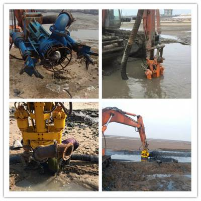 大功率河道清淤神器 液压全自动耐磨搅吸泥浆泵挖机清淤泵